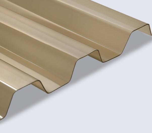pvc wellplatten wellplatte pvc trapez 70 18 bronce 1 0mm. Black Bedroom Furniture Sets. Home Design Ideas
